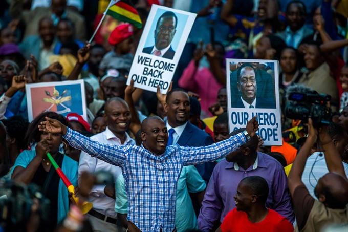 """Zimbabwe's next leader says post-Mugabe era is """"full democracy"""""""