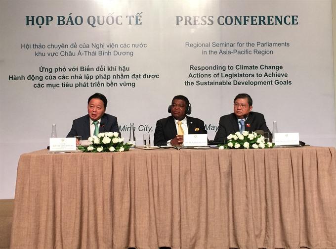 International legislators pledge action on climate change