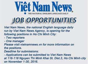 Thông báo tuyển dụng của Báo Việt Nam News