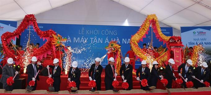 Tân Á Đại Thành Group begins factorys construction