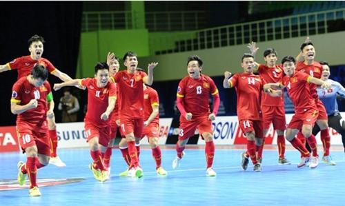 VN futsal team up three spots in rankings