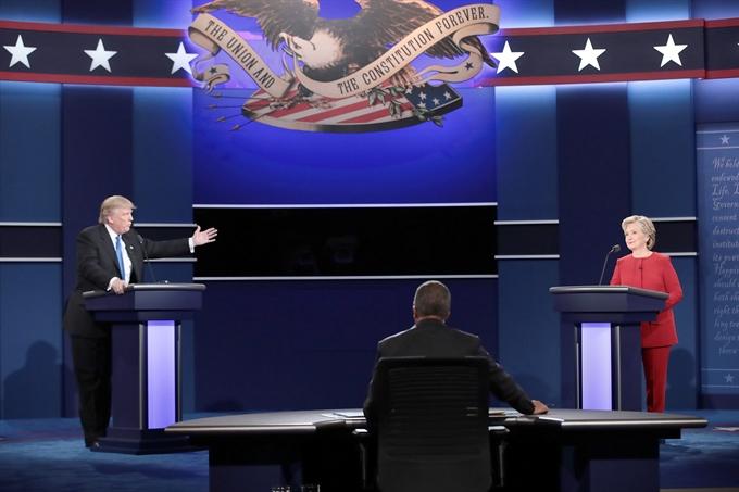 Clinton Trump clash in fiery first debate
