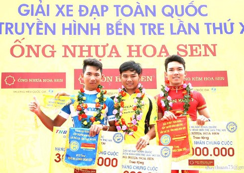 Minh wins yellow jersey at Bến Tre race