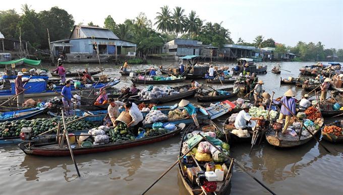 Cái Răng Floating Market duplicate to visit Hà Nội