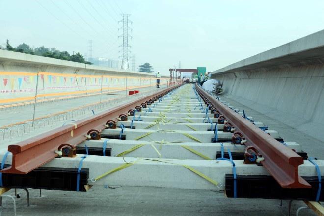 First tracks laid on HCM City metro