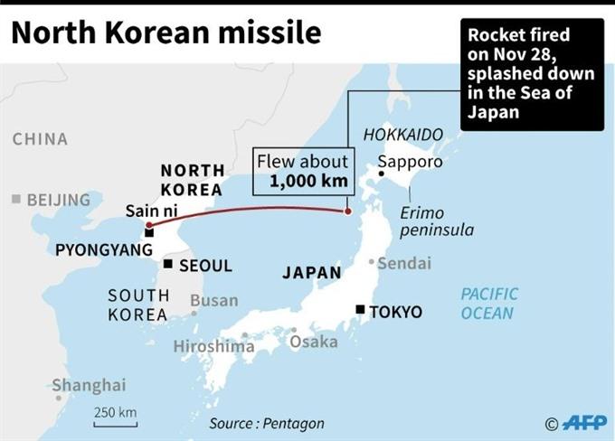 North Korea tests ICBM in fresh challenge to Trump