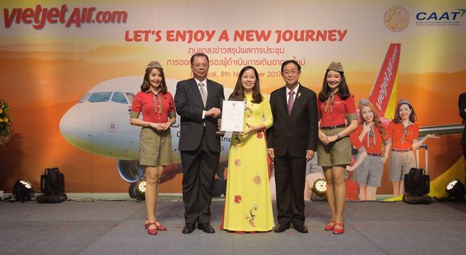 Thai Vietjet receives AOC recertification launching new intl route