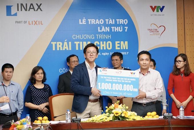 Lixil Vietnam donates more for childrens heart surgeries