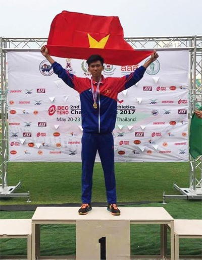 Long jumps for gold at Asian Youth Athletics