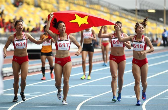 Việt Nam athletics on top of ASEAN