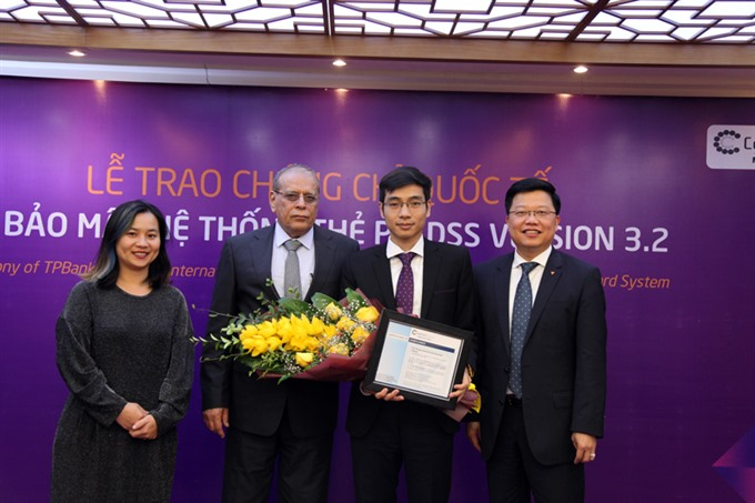 TPBank receives PCI DSS 3.2 certification