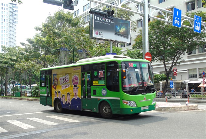 HCM City to auction bus advertising space again