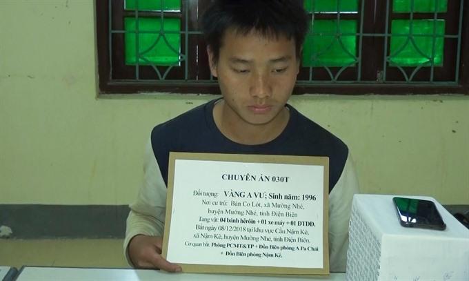Heroin trafficker arrested in northern border Điện Biên Province
