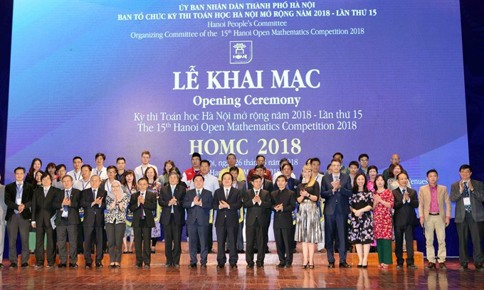Hà Nội Open Math contest held with international contestants for the first time
