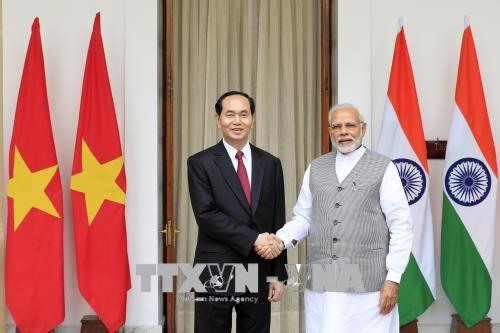 President Quang holds talks with Indian PM