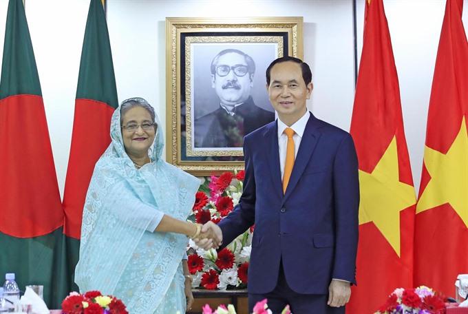 Vietnamese Bangladeshi leaders hold talks