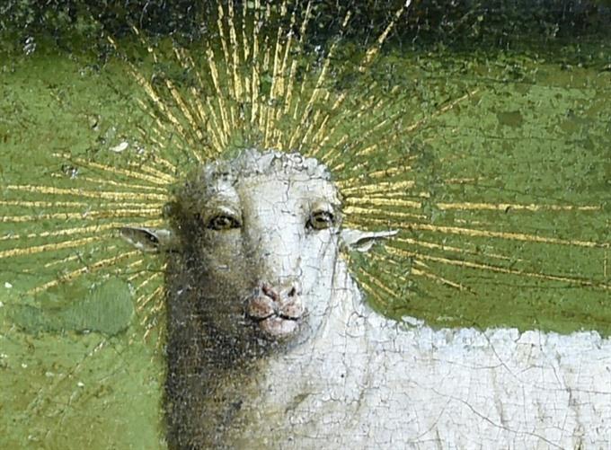 Restorers unveil original face of Belgiums Mystic Lamb