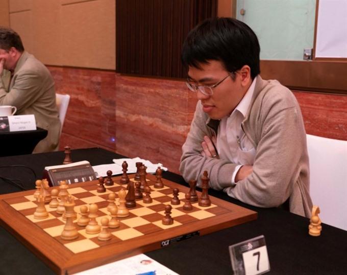 Liêm lost to Georgia grandmaster at UAE