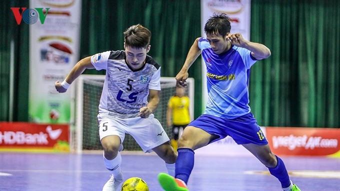 Sanatech Sanest Khánh Hòa beat Thái Sơn Nam at National Futsal HDBank