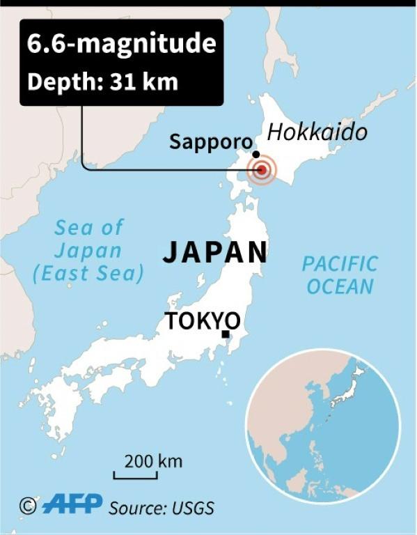Landslides after powerful 6.6 magnitude quake hits Japans Hokkaido