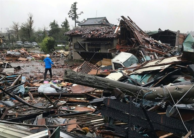 One dead as unprecedented Typhoon Hagibis slams into Japan