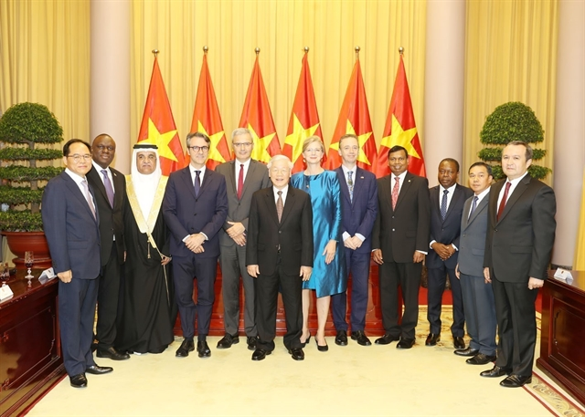 Party State leader welcomes newly-accredited foreign ambassadors