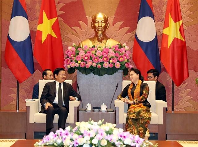 NA leader welcomes Lao PM in Hà Nội
