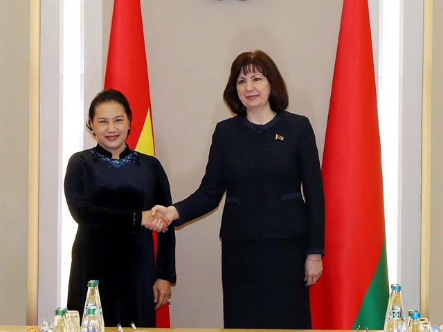NA Chairwoman meets Belarusian top leaders