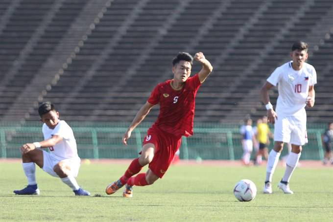 Việt Nam beat Philippines at AFF U22 champs