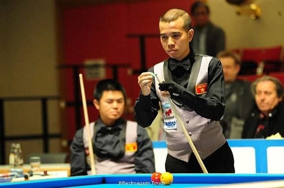 Việt Nam lose to Netherlands at three-cushion billiards