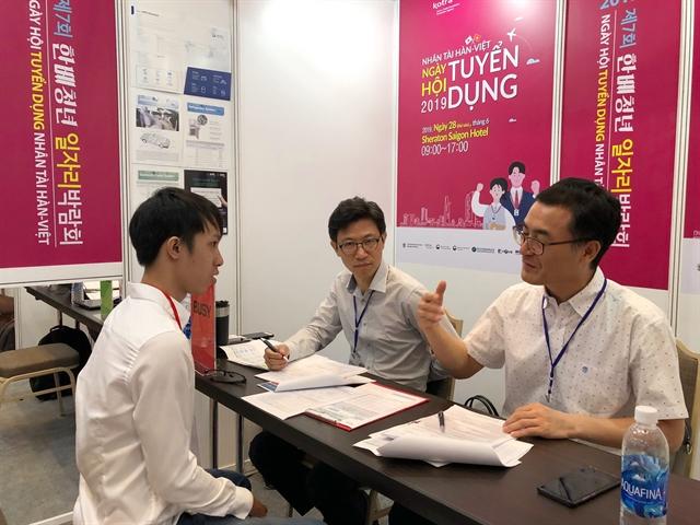 Korean firms come hiring at HCM City job fair