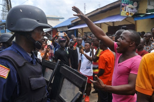 Liberias Weah faces key test with protests over economy