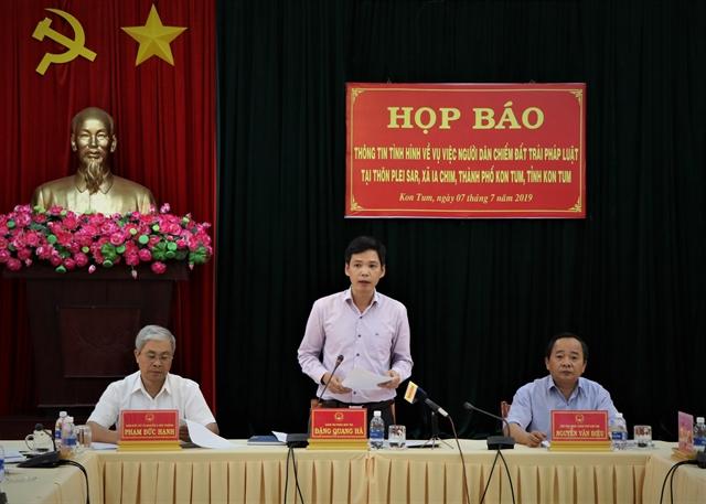 Kon Tum land disputeresolved