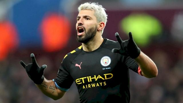 Legend Aguero makes history as Man City hit Villa for six
