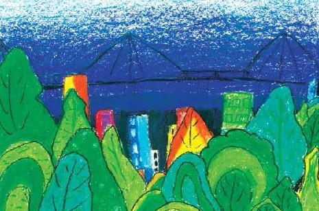 Long Biên Bridge painting wins contest
