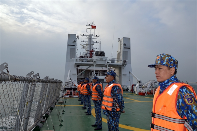 Vietnamese Chinese coast guards conduct joint patrol in Tonkin Gulf
