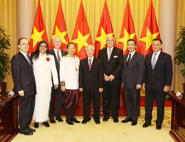 Top leader receives newly-accredited ambassadors