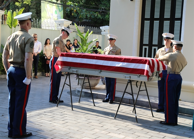 Repatriation ceremony of US servicemens remains takes place