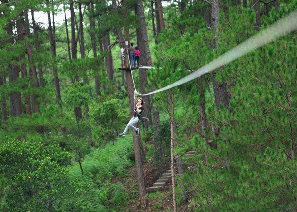 Zipline tour in Yên Bái is must-do for adventurers