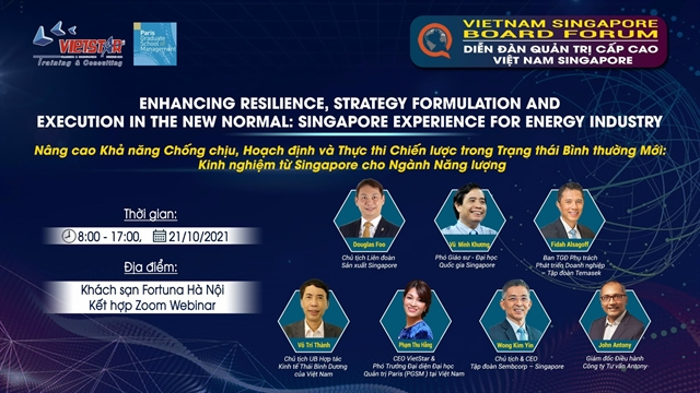 Hà Nội to host Vietnam-Singapore forum for senior leaders in energy industry