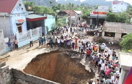 Cavern blamed for sinkhole