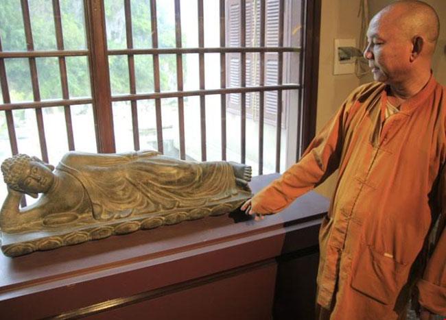 Buddhist antiques displayed in Da Nang