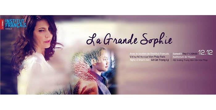 French pop-rock concert with La Grande Sophie