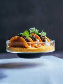 French chef debuts molecular gastronomy