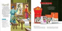 The tale of Kiều printed on calendar