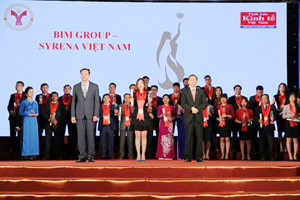 BIM Group–Syrena Viet Nam receive Strong Vietnamese Brand award