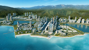A bustling seaside town along Hạ Long Bay