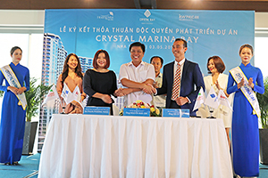 Deal signed to develop Crystal Marina Bay project between Crystal Bay Group, KW PhucAn and Hoang Mai Media