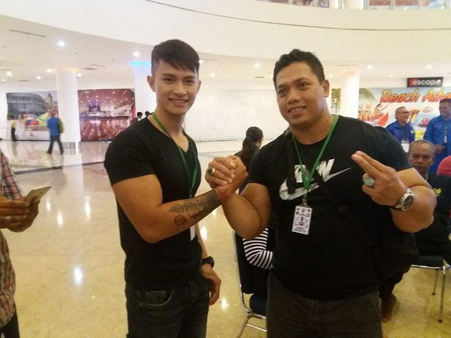 Đức wins gold at arm wrestling event