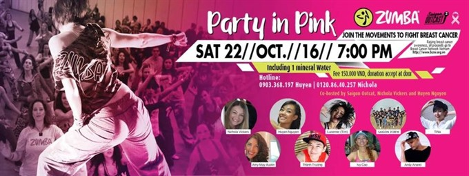 Zumba dance party in aid of breast cancer